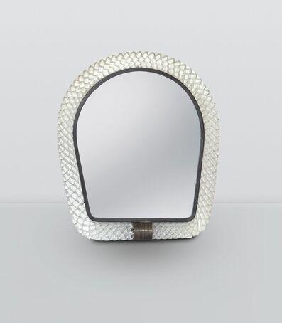 Venini, 'a mirror with a Torchon glass frame', ca. 1940
