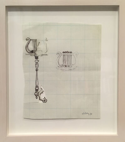 Charles LeDray, 'Bone Music Stand Drawings from 1997', 1997