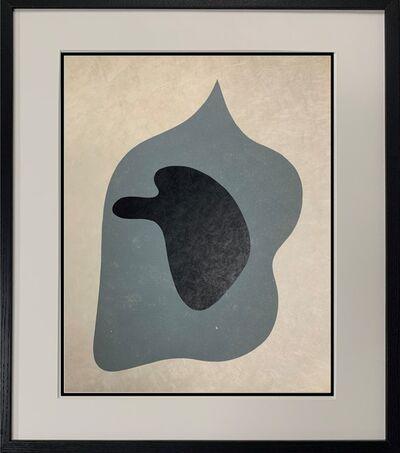 Hans Arp, 'Black Profile on Gray Face', 1951-1952