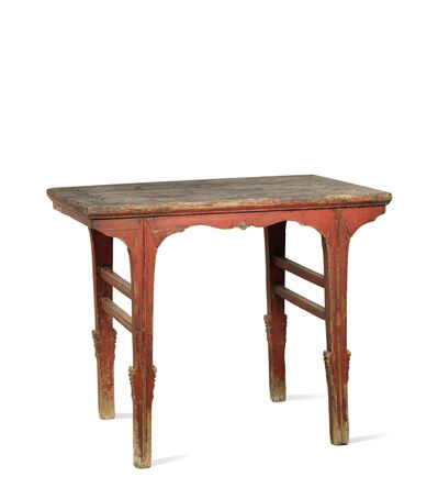 Unknown Chinese, 'A red lacquered softwood rectangular wine table', China: Shanxi province-16th century