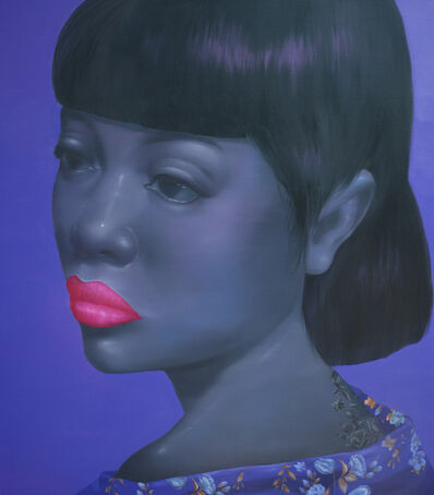 Attasit Pokpong, 'Girl with Purple', 2014