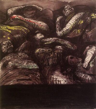 Henry Moore, 'Untitled XXXIV (Shelter Sketchbook)', 1967