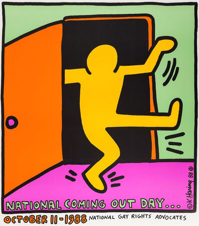 Keith Haring, 'First National Coming Out Day Poster', 1988
