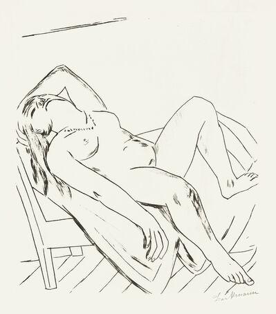 Max Beckmann, 'Liegende', 1922
