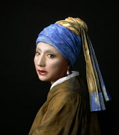 Yasumasa Morimura, 'Vermeer Study: Looking Back (Mirror)', 2008