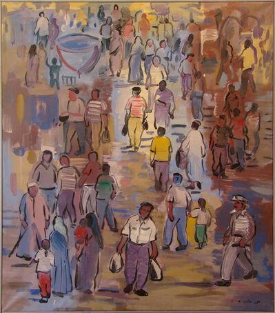 Mohamed Abla, 'Street Scene in Cairo'