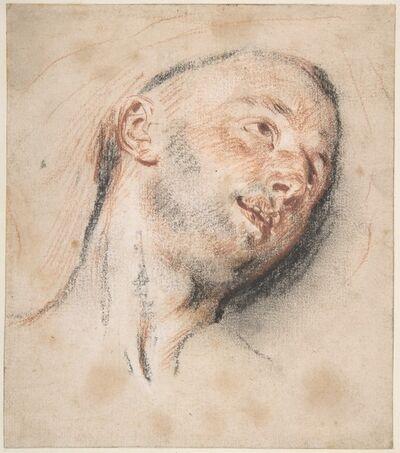 Jean-Antoine Watteau, 'Head of a Man', ca. 1718