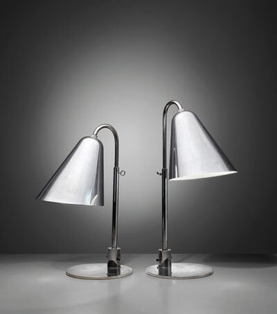Vilhelm Lauritzen, 'Pair of early and large adjustable table lamps', designed 1928