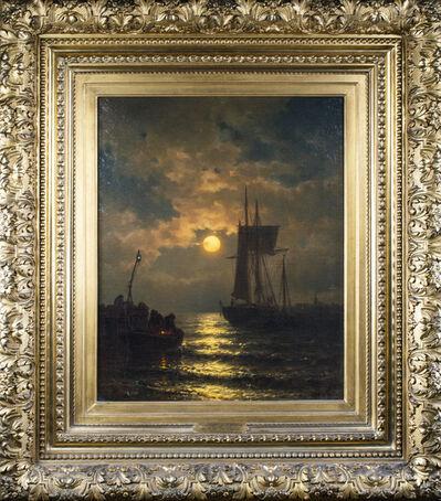 Mauritz Frederik Hendrik de Haas, 'Moonlight at Ostend', 1870-1880