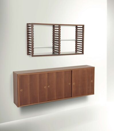 Franco Albini, 'a bookcase with a wall shelf and a sideboard', 1945