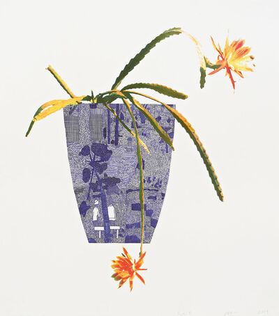 Jonas Wood, 'Three Landscape Pots: Night Bloom', 2019