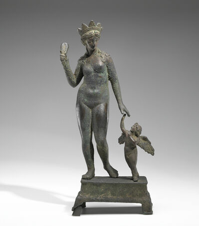'Statuette of Aphrodite and Eros on a Base',  2nd -1st century B.C.
