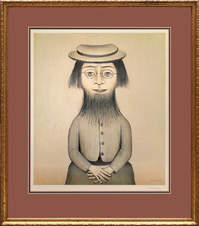 L.S. Lowry, 'Woman with a Beard. Together with Preliminary Sketch for Woman with a Beard', 1975