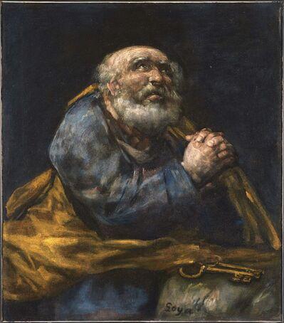 Francisco de Goya, 'The Repentant St. Peter', ca. 1820-1824