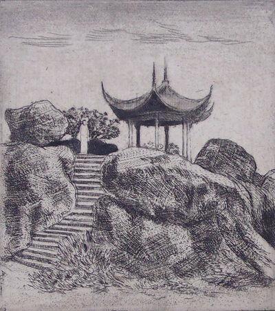 Emil Orlik, ' Tea House on the Rocks', 1901