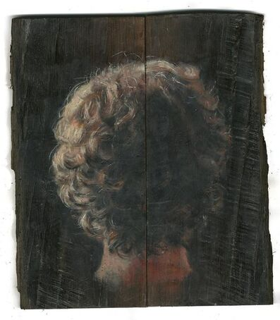 Lorna May Wadsworth, 'Bog Oak Two Panel Study, The Back', 2017