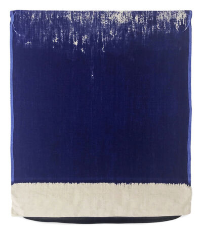 Analia Saban, 'Pressed Paint (Ultramarine Blue)', 2017