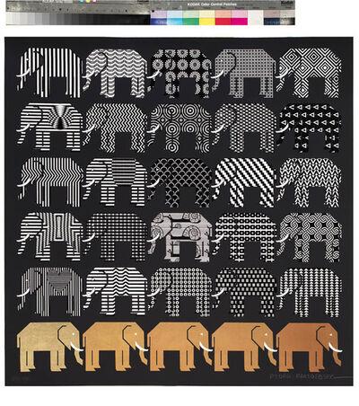 Pedro Friedeberg, 'Elefantes II', 2017