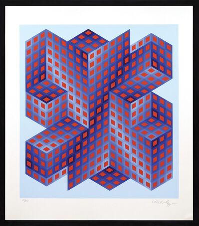 Victor Vasarely, 'Sinvilag', 1988