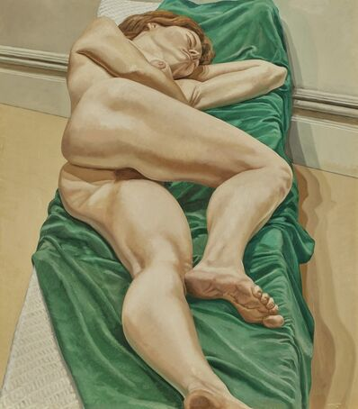 Philip Pearlstein, 'Nude on Green Drape', 1970