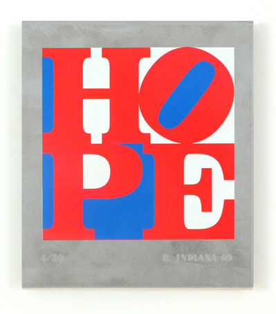 Robert Indiana, 'HOPE: Red, White, Blue', 2009