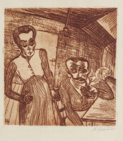 Conrad Felixmuller, 'Arbeiterpaar (Ehepaar Schnabel)', 1920