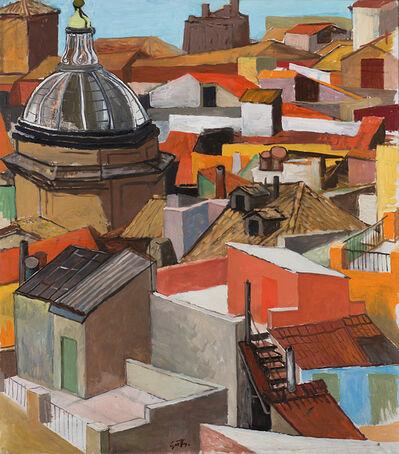 Renato Guttuso, 'Tetti romani del Rione Monti (Tetti di Roma e cupola della Madonna dei Monti)', 1962 -1964
