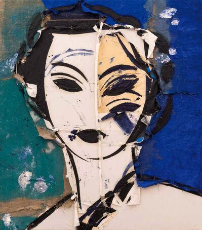 Manolo Valdés, 'Retrato sobre fondo azul', 1997