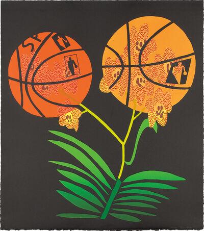 Jonas Wood, 'Double Basketball Orchid (State II)', 2017