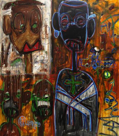 Aboudia, 'Crucifix Red Lips', 2019