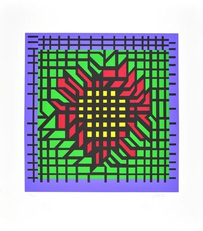 Victor Vasarely, 'Kat-Zag', 1980-1990