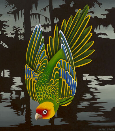 Billy Hassell, 'Carolina Parakeet - Ghost of Cado Lake', 2018