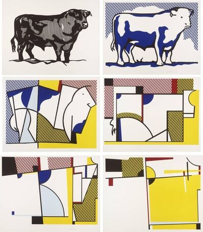 Roy Lichtenstein, 'BULL PROFILE SERIES (C. 116-121)', 1973