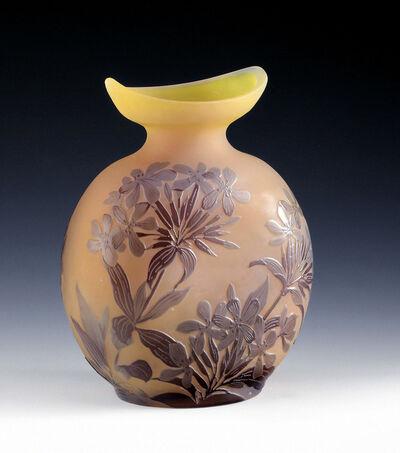 Emile Gallé, 'Vase with Phlox', France-c. 1900