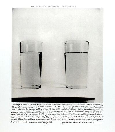 """Álvaro Barrios, '""""Dos vasos con agua magnetizada""""', 1974"""