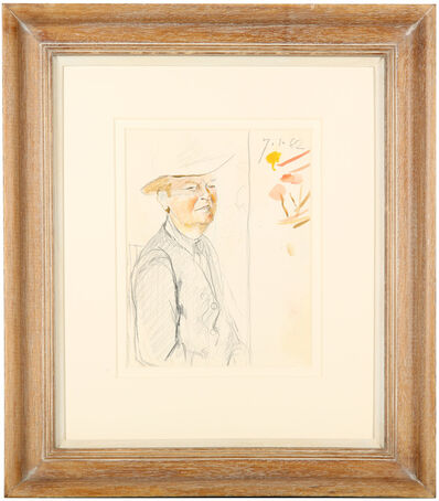 Graham Sutherland, 'Composition study for a portrait of Sir Kenneth Clark, Lord Clark, KCB, FBA, CH, OM, (1903-1983)', 1962
