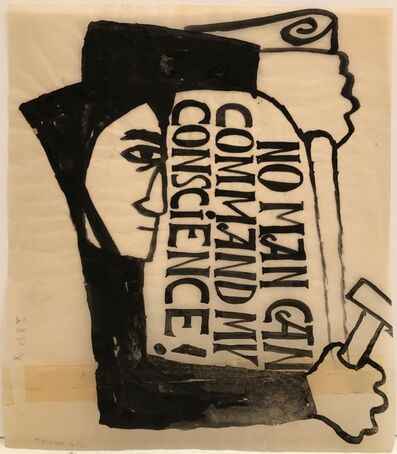Ben Shahn, 'No Man Can Command My Conscience ', ca. 1955