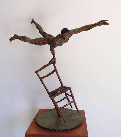 Giacinto Bosco, 'Acrobata su sedia piccola', 2015