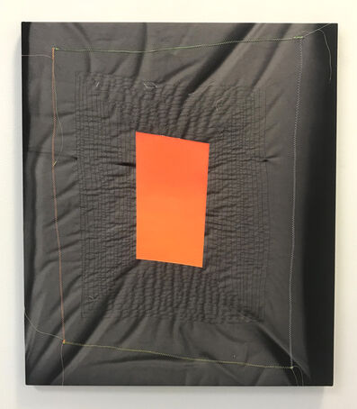 Chris Duncan, 'Ghost Pattern (Orange on Black) ', 2019