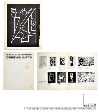"Roy Lichtenstein, '""New Editions, Lithographs, Sculpture Reliefs"", 1970, Invitation/Mailer, Leo Castelli Gallery NYC', 1970"
