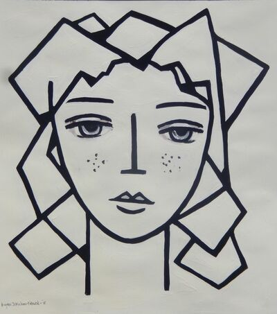 Krysia D Michna Nowak, 'Girl with Plaits', 2018