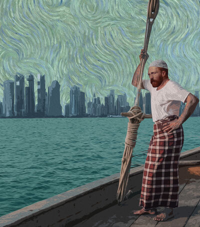 Nasser Al-Kubaisi, 'Van Gogh Visiting Doha ', 2019