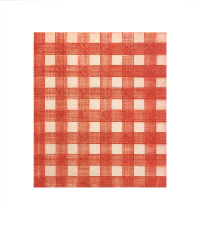 Michelle Grabner, 'Warm Red Gingham', 2015