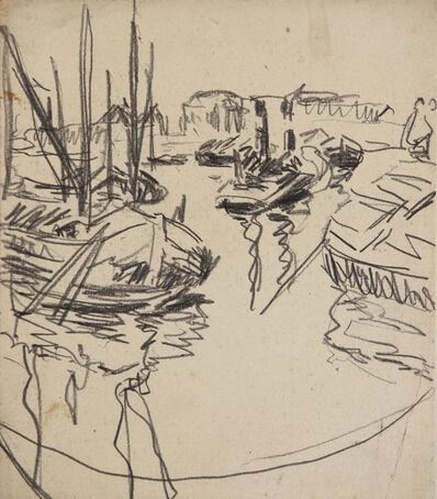 Ernst Ludwig Kirchner, 'Elbhafen (Harbour on the Elbe River) ', 1908