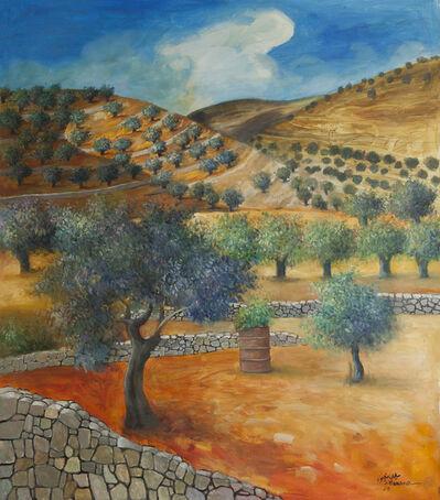 Sliman Mansour, 'Olive Field from Birzeit', 2020