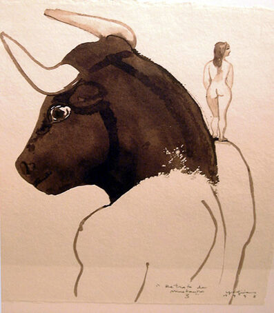 Pepe Yagües, 'Retrato de minotauro 3', 1998