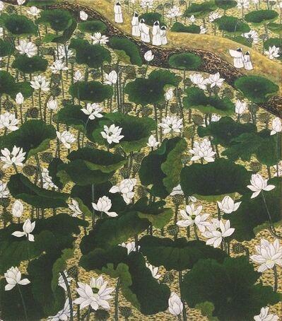 Sanzi 散子, '荷问  Whispering Lotus (Limited print)'