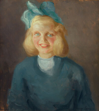 Attributed to George Benjamin Luks, 'Girl with Bow', circa 1910-20