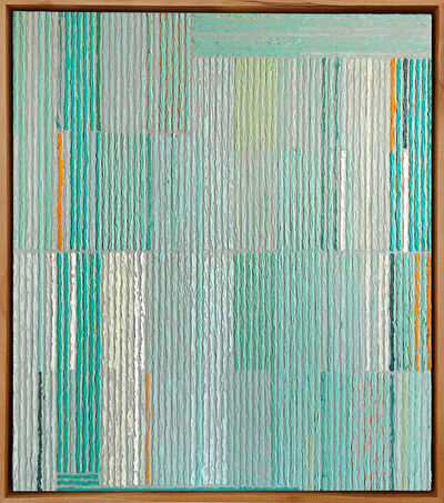 Sunny Taylor, 'Stacked Pattern With Aqua & Gold', 2019