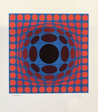 Victor Vasarely, 'Blue and Red Composition', ca. 1980